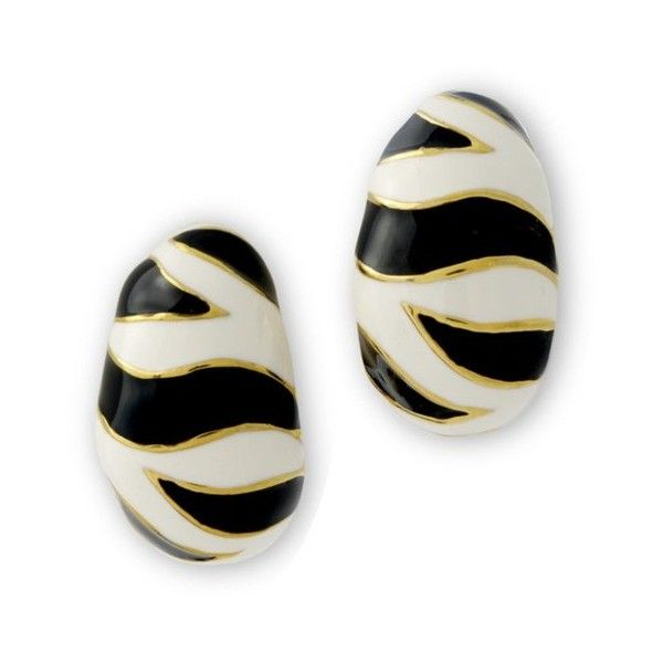 Kenneth Jay Lane Tiger Stripe Pierced Earring Tiger stripe uXcgRrj9M