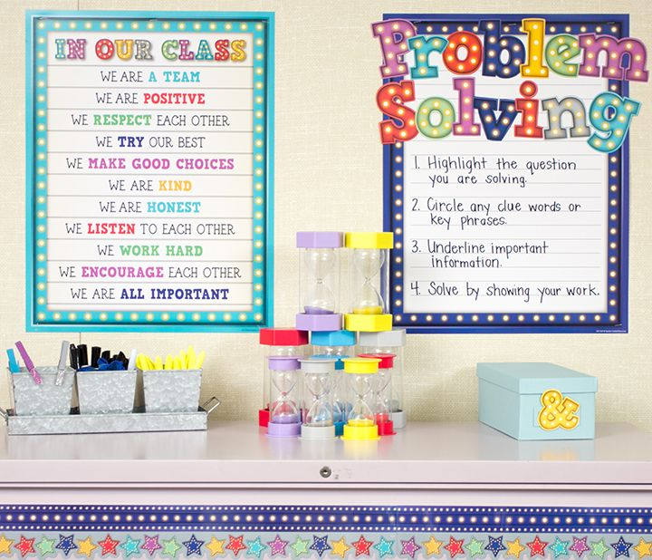 Classroom Decor Resources ~ Marquee classroom decorations from teacher created