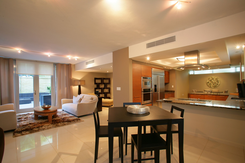 Dise os de sala comedor y cocina planos pinterest for Sala de estar y comedor