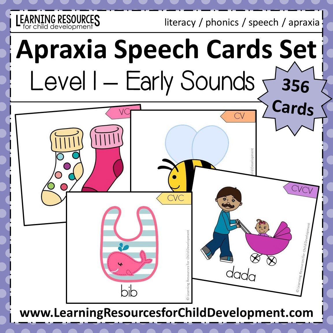 Apraxia Speech Cards Set Level 1
