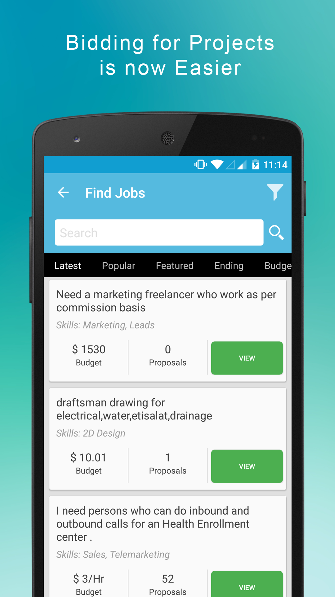 Choose from thousands of Freelance Jobs posted online.