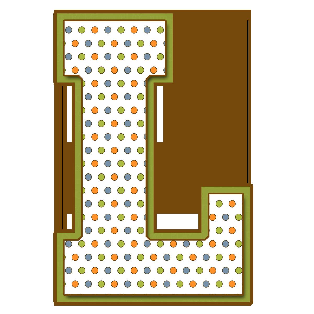 Letras may sculas para imprimir de bolitas de colores letra l el alfabeto con sus letras - Figuras decorativas grandes ...