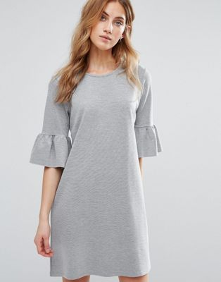Womens Ruffle Yoke Tunic Dress New Look w63wwsJcDZ