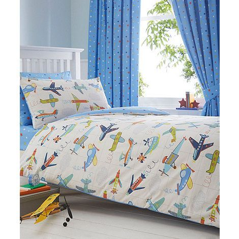 Bluezoo boys blue aeroplane bedding set debenhams vehicle bluezoo kids blue aeroplanes duvet cover and pillow case set gumiabroncs Image collections