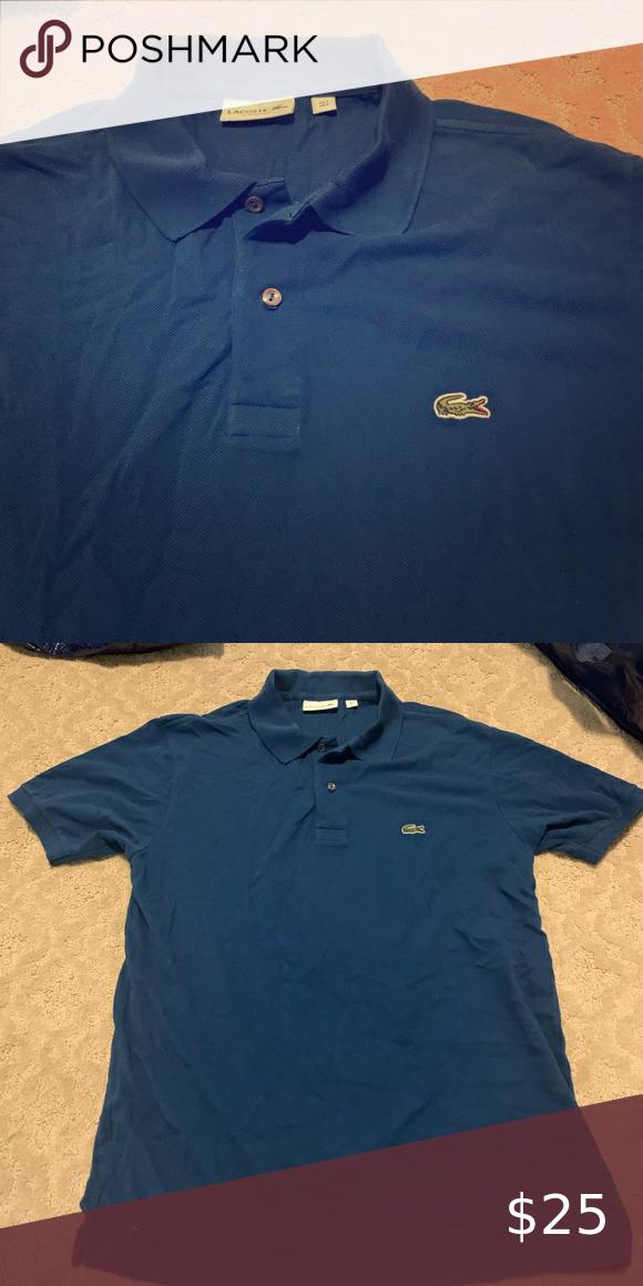 Lacoste Classic Mens Polo Shirt Us L Cadet Blue Polo Shirt Men S Polo Shirt Mens Polo