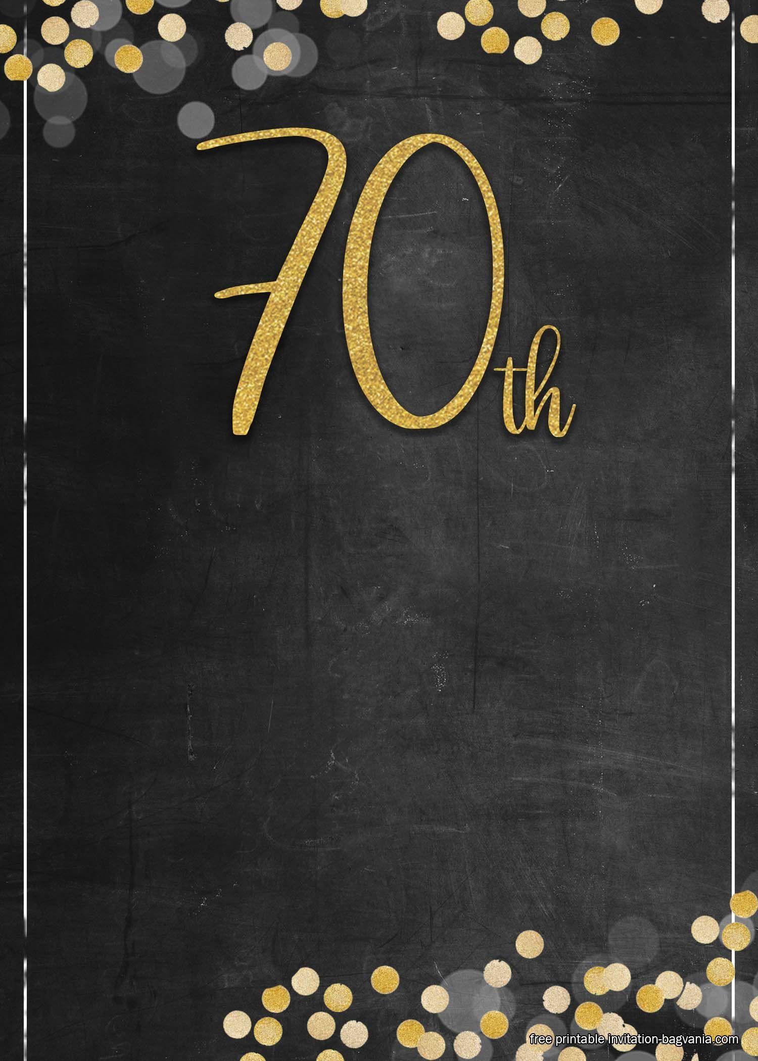 Free Printable 70th Birthday Invitation Templates 70th Birthday Invitations Birthday Template Birthday Invitations 70th birthday invitation templates free