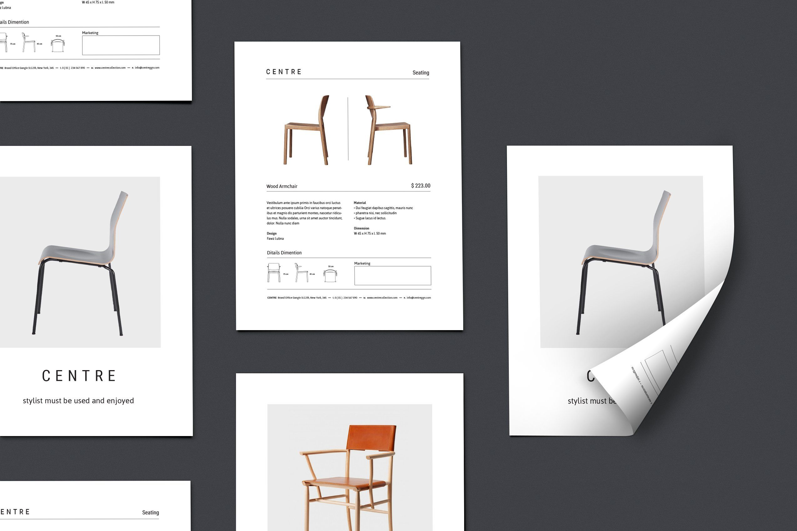 Top Image Chair Center Design Template