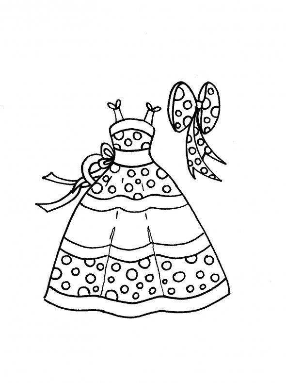 Dibujos de vestidos para colorear y pintar. Imprimir dibujos de ...