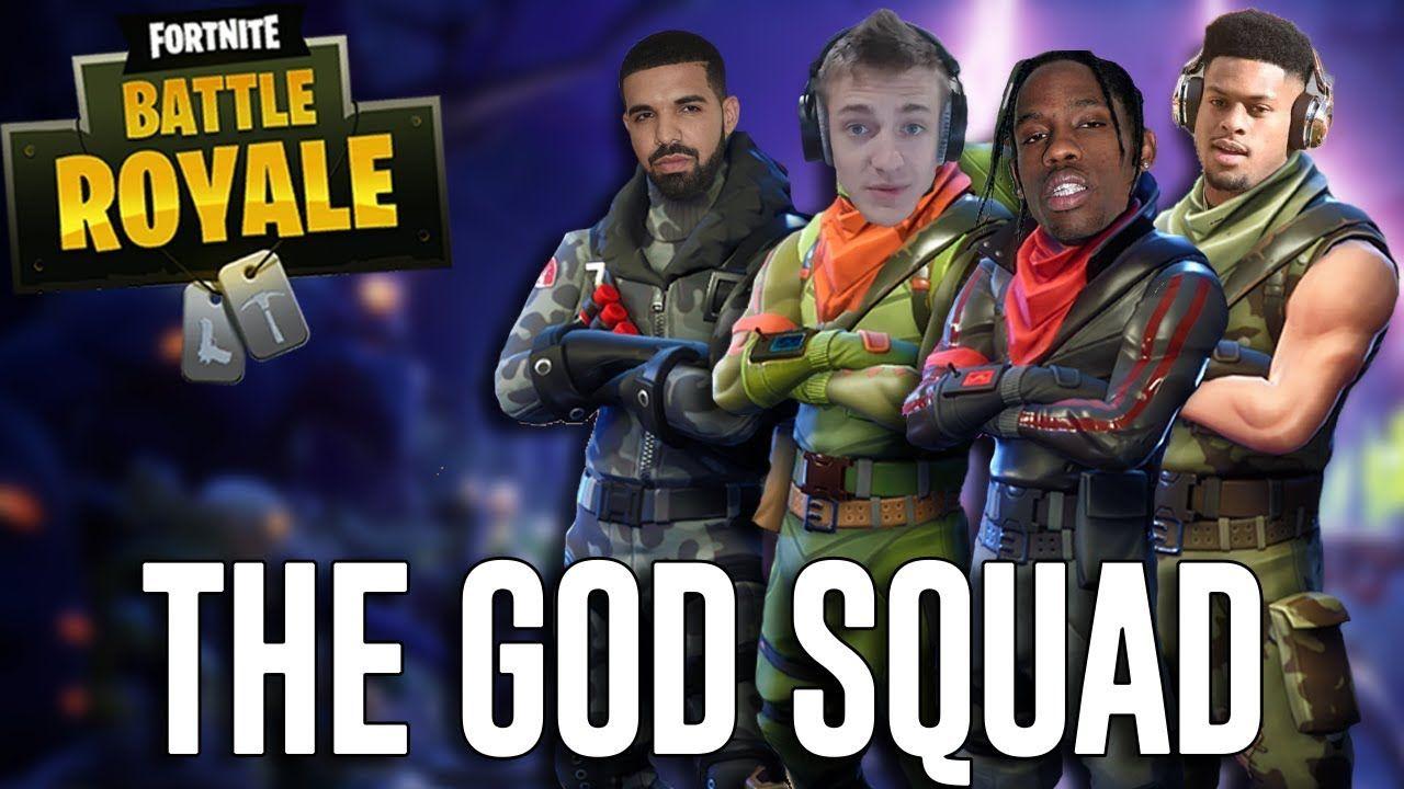 Squads With Ninja Drake Travis Scott And Juju Fortnite Battle