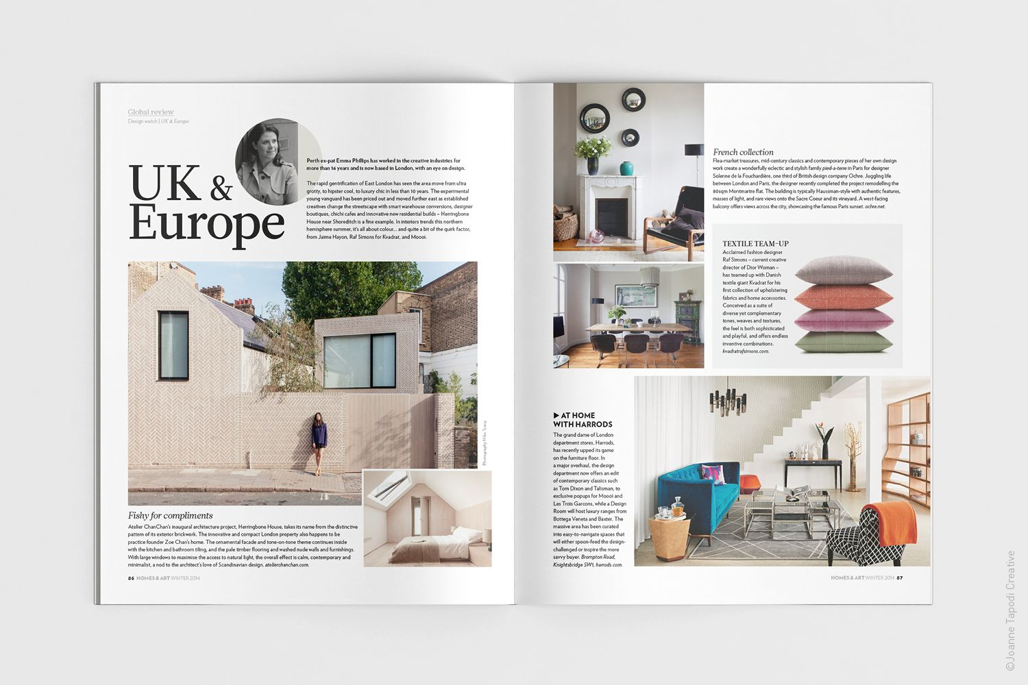 Scoop Homes & Art Magazine / International Trends section / layout ...