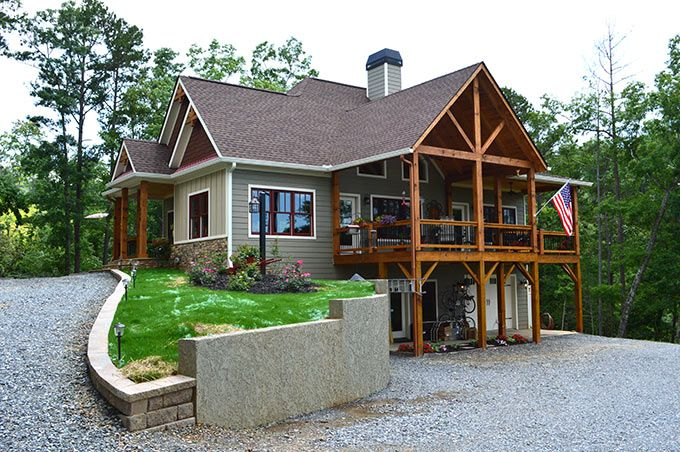Lake wedowee creek retreat house plan lake house plans for Lake view home designs