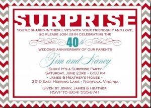 suprise party invitation wording