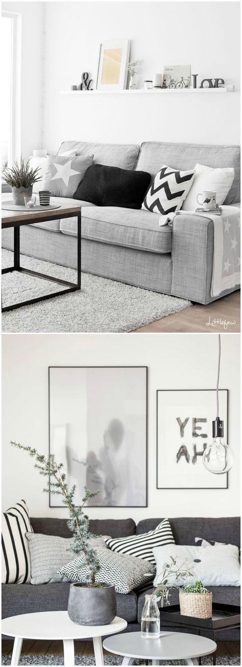 Sofá gris, el color perfecto. Visto en www.momocca.com