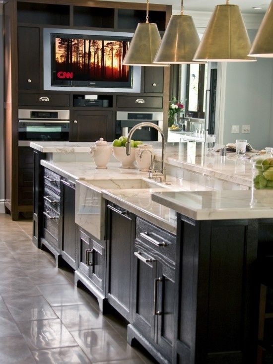 kitchen island with sink and dishwasher and seating | kitchen