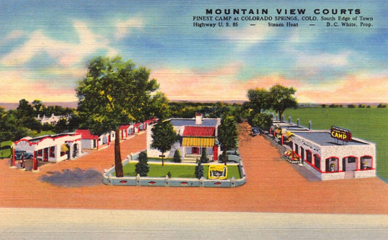 Artdeco Postcard Motel Old Postcards