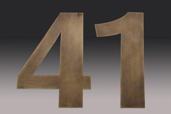 Aus Tombak Gefertigte Hausnummer Hausnummern Hausverschonerung Haus