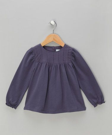 Take a look at this Grey Button-Back Blouse - Infant, Toddler & Girls by Mini A Ture on #zulily today!