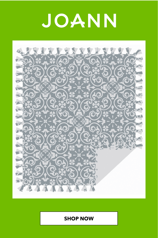 Joann Fabric No Sew Throw Kit : joann, fabric, throw, Tonal, Fleece, Throw, JOANN, Sewing, Fleece,, Fabric