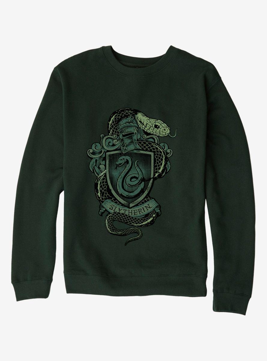 Harry Potter Slytherin Logo Sweatshirt Sweatshirts Harry Potter Outfits Slytherin Clothes [ 1200 x 889 Pixel ]