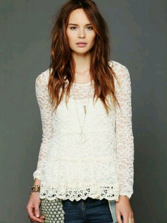 Lace tops jeans