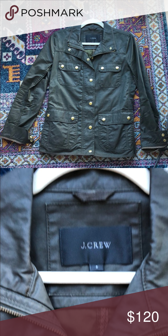 7205c68f1d9c J. Crew green field jacket Perfect condition. Only worn handful of time.  Always