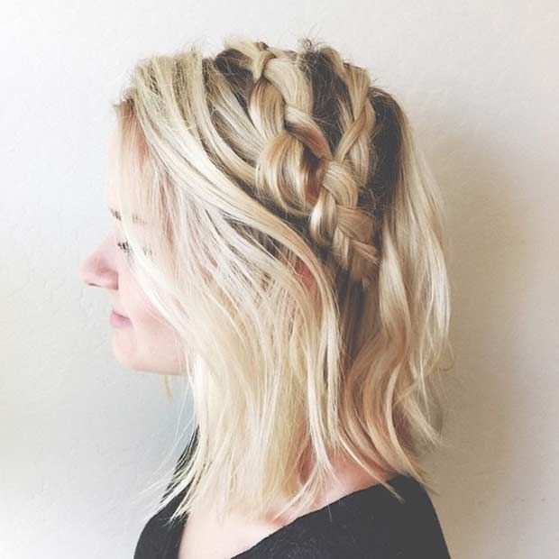 17 Chic Braided Hairstyles For Medium Length Hair Stayglam Medium Length Hair Styles Braided Hairstyles Easy Hair Styles