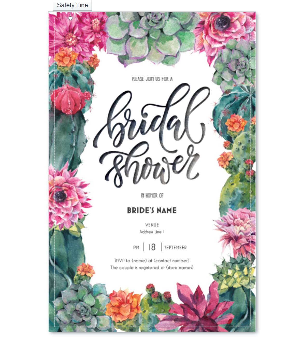 floral bridal shower invite vistaprint