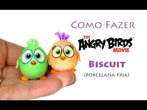 Totorial Angry Birds baby Ponteira de lápis biscuit, Angry