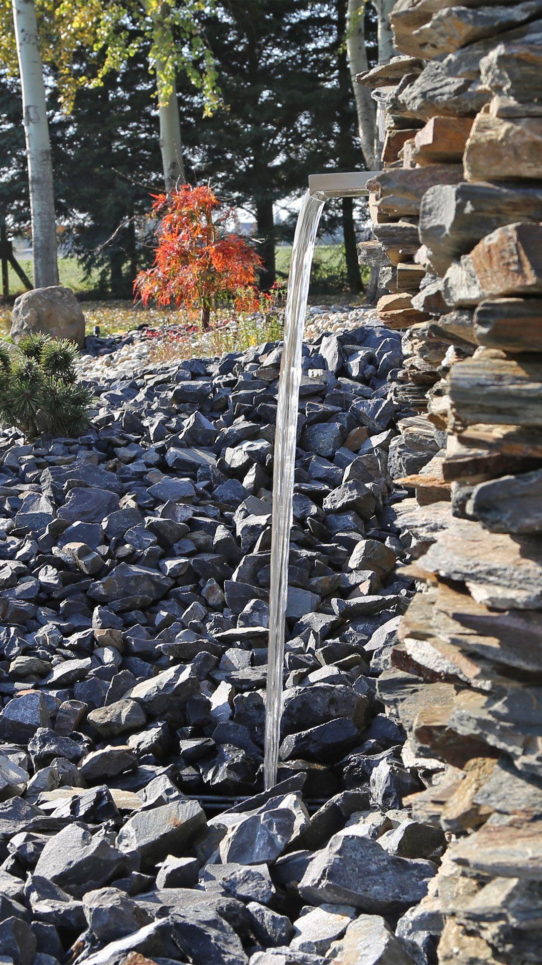 Wasserfallklinge Aus Edelstahl In 2020 Teich Wasserfall Wasserfall Wasser