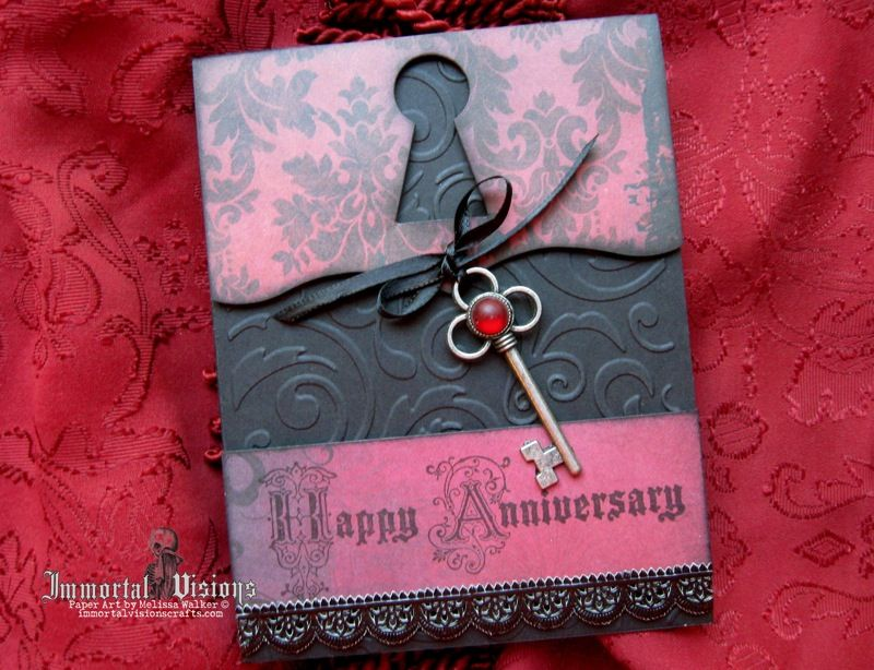 Gothic anniversary greeting card by immortal visions immortal
