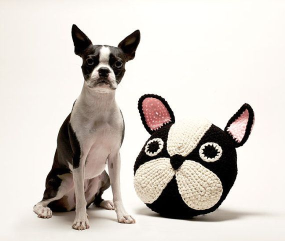 French Bulldog/Boston Terrier Pillow | crochet | Pinterest | Croché ...