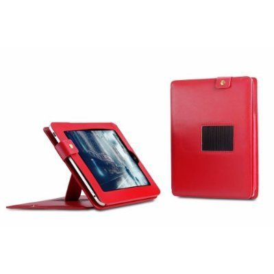 Deluxe Leather iPad Case / Folio with Built-in Stand, Leather iPad Cover, iPad Cases and Covers - Black -  Model: AIPX-BB17704Color option: Available in Red and Black. Please specify color.Material: High quality PU leather Package: 1 pc / poly bag Fe