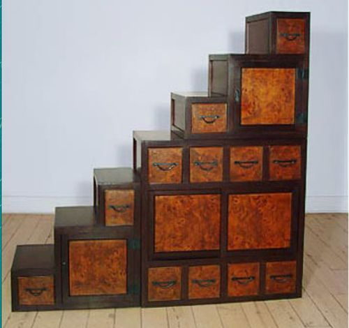 Tansu Chest Photos | Japanese Wood Tansu Step Chest.