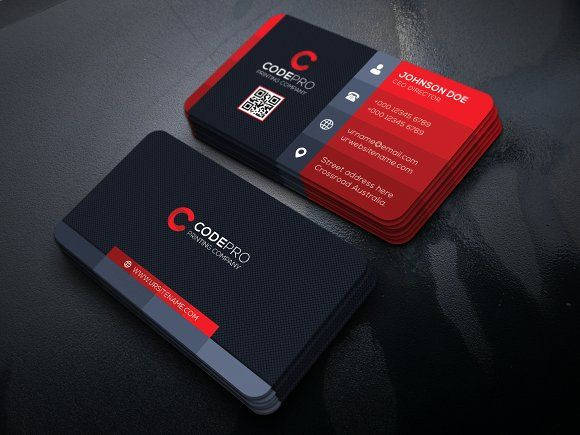 Modern Business Card By Vazon On Creativemarket