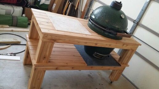 Large Big Green Egg grill table