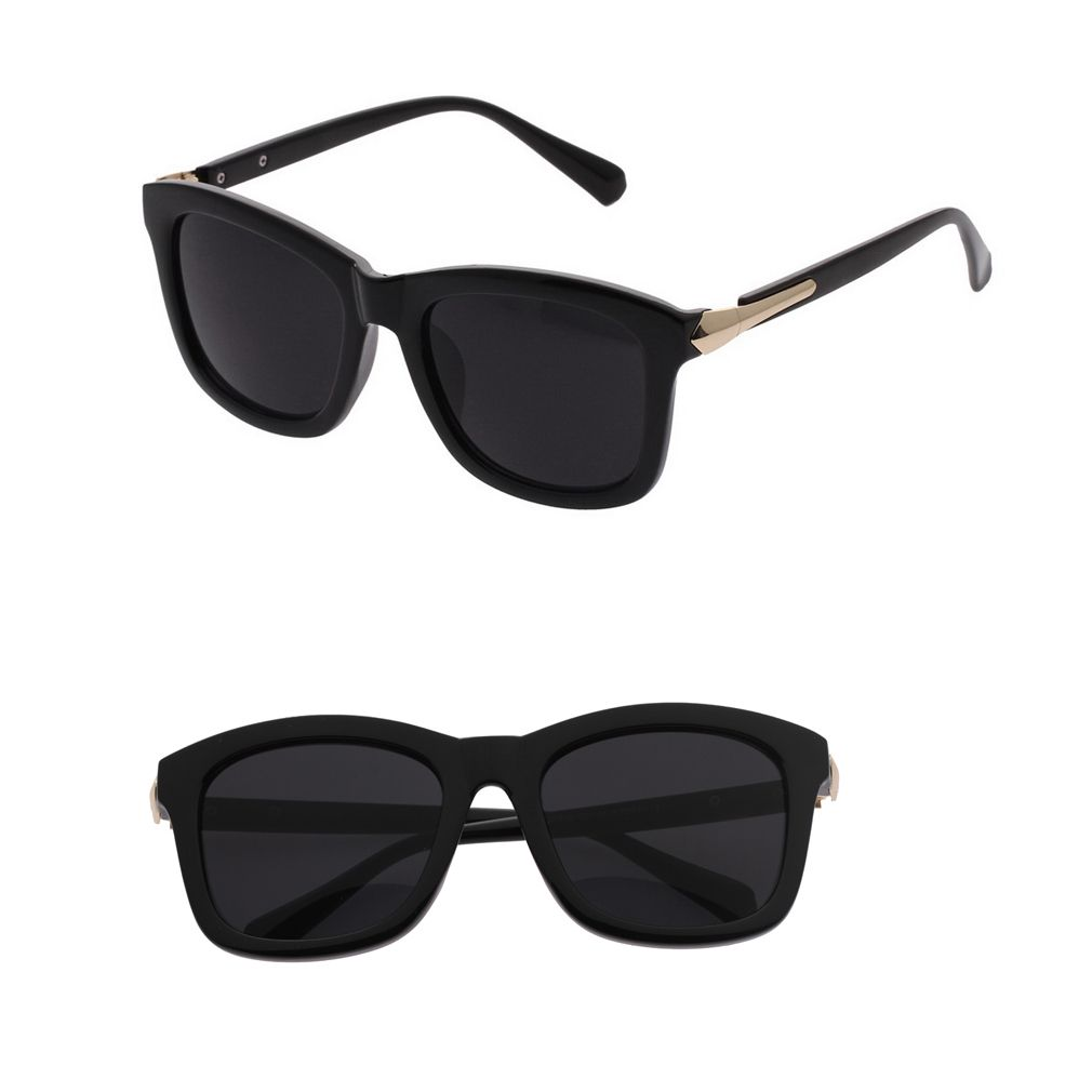 f5c0bbef5c EOZY Gafas De Sol Para Mujer Hombre Unisex Sunglasses Solar Protección UV  Deportivo Lente Marco Negro