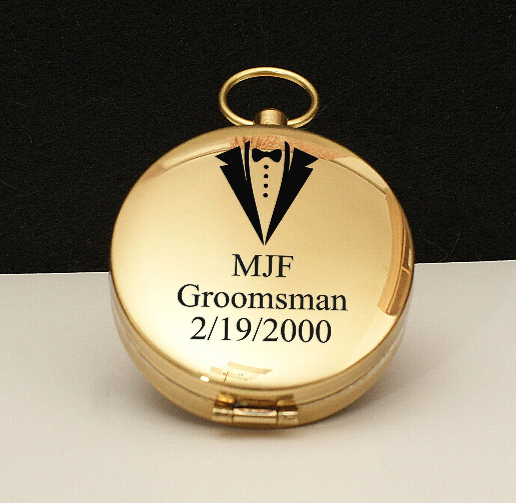 Grooms Gift Idea, Mens Gift, Engraved Travel Compass