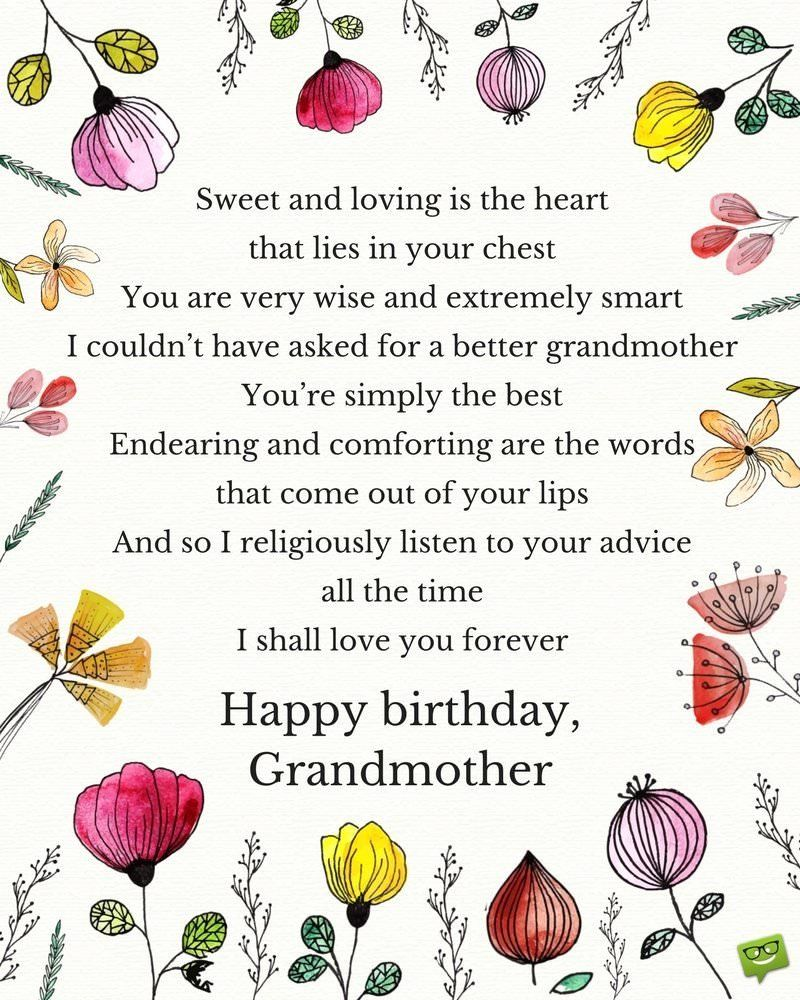 Poem for Grandma Birthday in 2020 (With images) Poem for