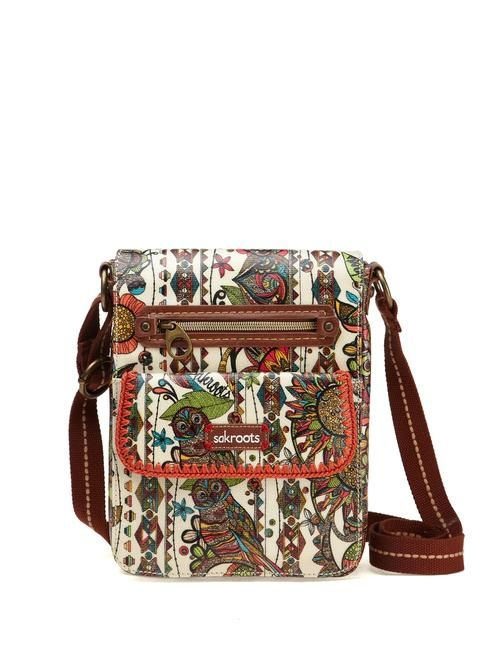 Ladies Girls Owl Crossbody Hipster Bag Multi Zippered New with Tags