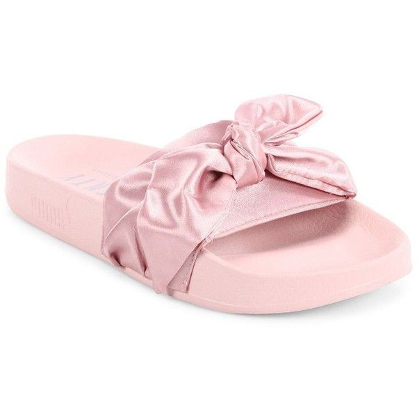 wholesale dealer 9ad79 83c5e PUMA FENTY Puma x Rihanna Satin Bow Slides Sandals ($90 ...