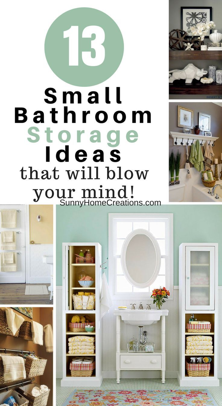 13 Mind Blowing Small Bathroom Storage Ideas   Pinterest   Small ...