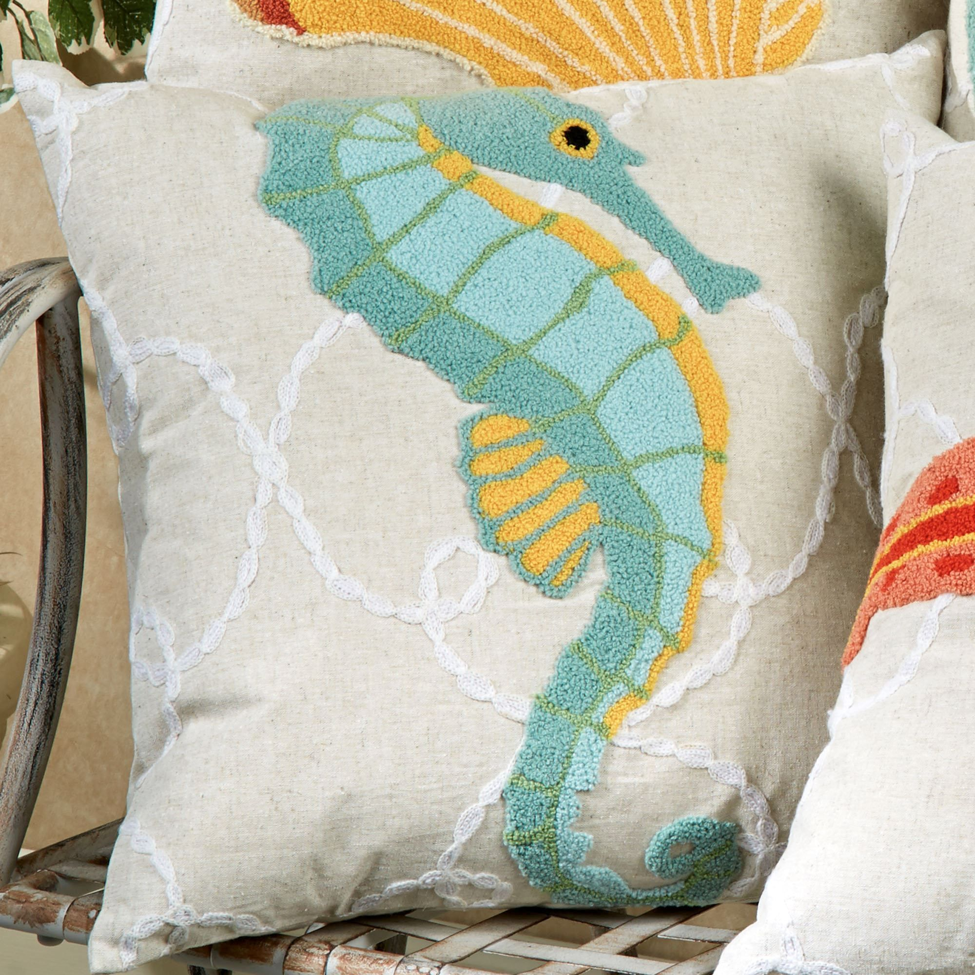 a41325e78de8a Washed Ashore Beach Themed Decorative Pillows