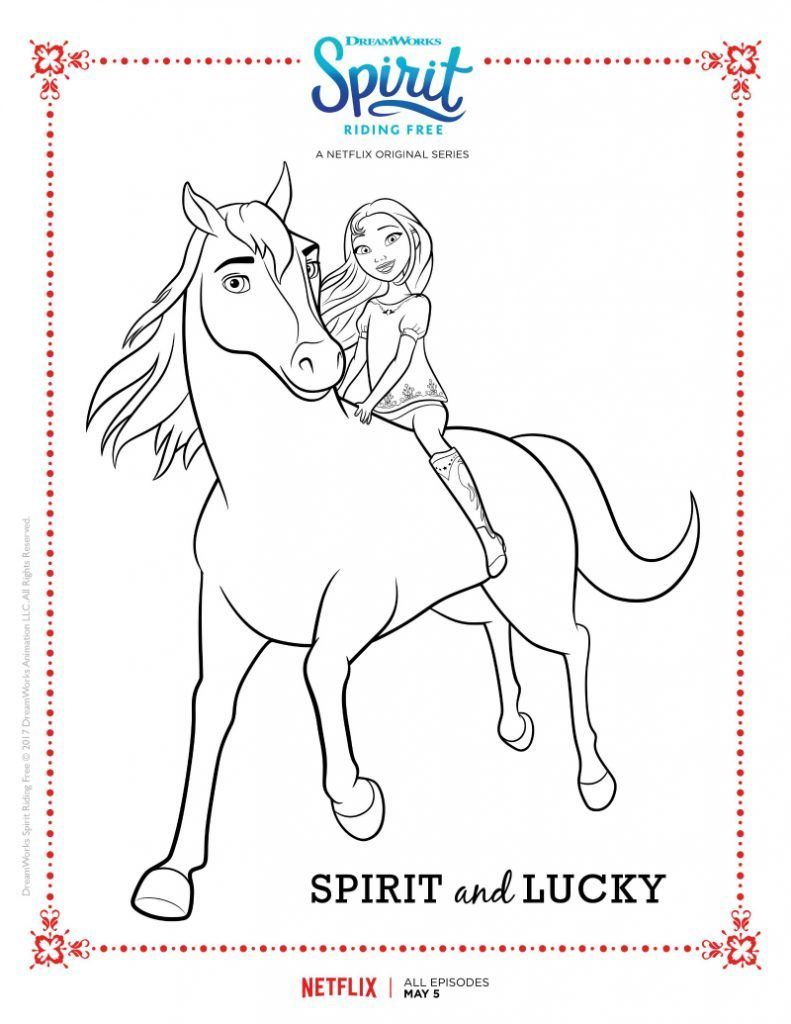 Spirit Riding Free Coloring Pages Best Coloring Pages For Kids Horse Coloring Pages Horse Coloring Free Coloring Pages