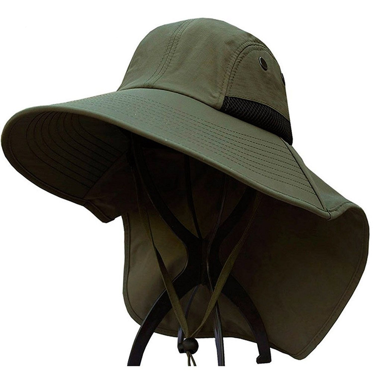 Jfs Mens Summer Outdoor Quick Dry Uv Protection Sun Hat Fishing Hat Army Green Cl12hil1hbl Hats For Men Mens Sun Hats Sun Hats