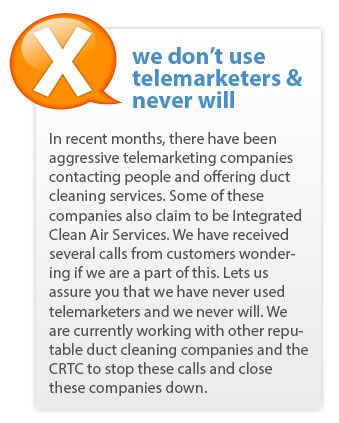 We Don T Use Telemarketers Statement Duct Cleaning Clean Dryer