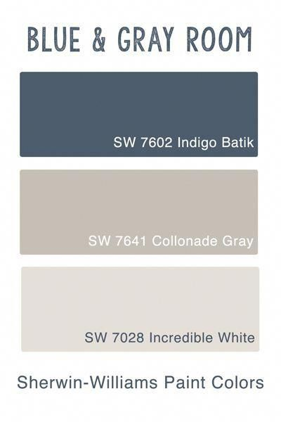 Sherwin Wiliams Blue  Gray Room - Guest Bedroom Inspiration  Paint
