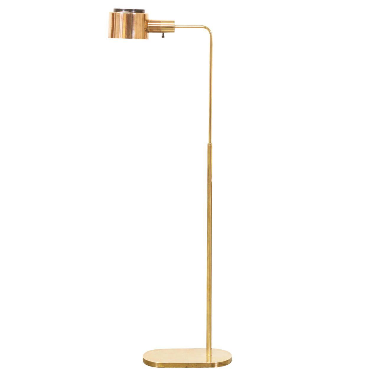 Casella Brass Reading Lamp Vintage Floor Lamp Lamp Floor Lamp