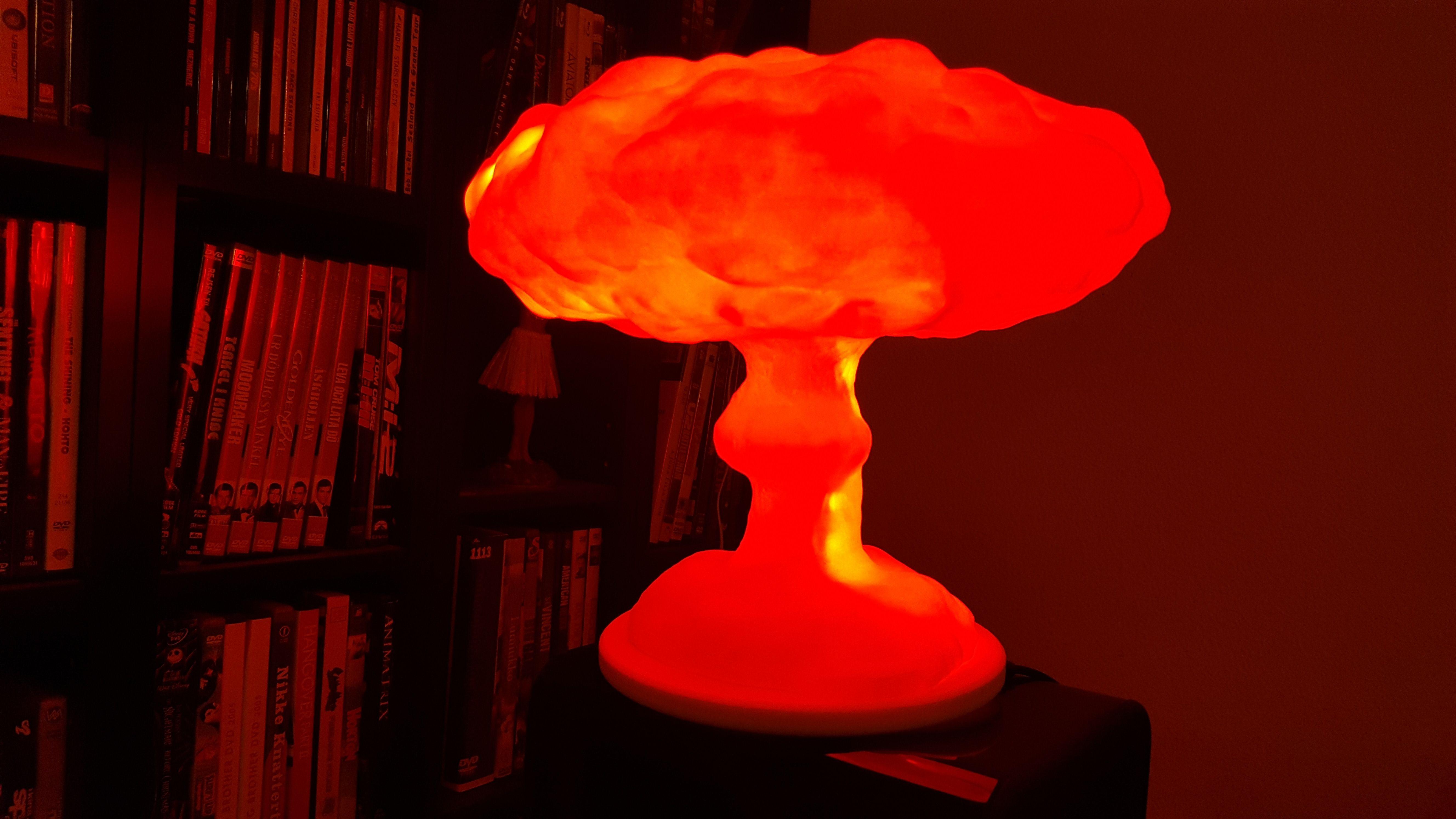 High Quality I Created This 3D Printed Mushroom Cloud Lamp Http://ift.tt