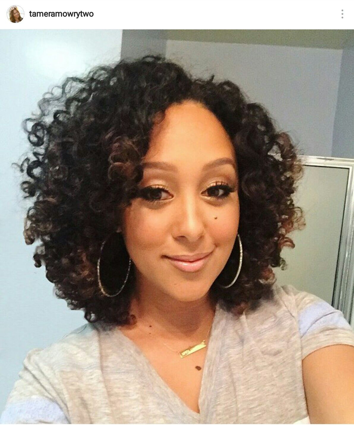 tamera mowry buns and updo's