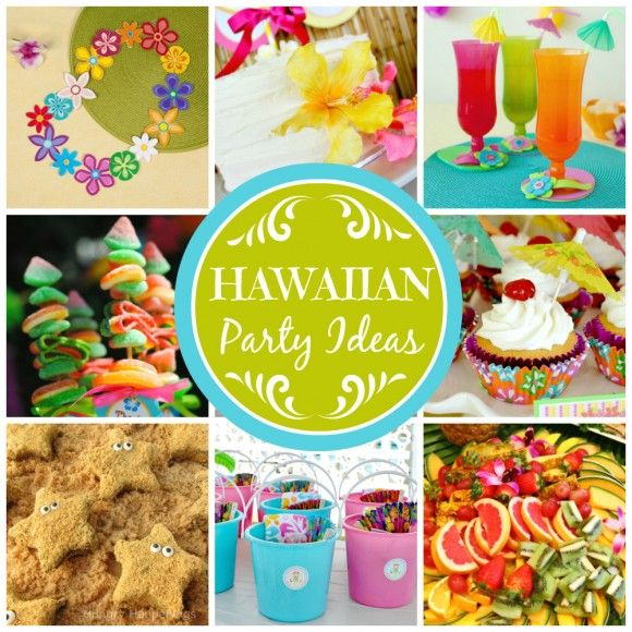 Here are some great Hawaiian party ideas!   catchmyparty com